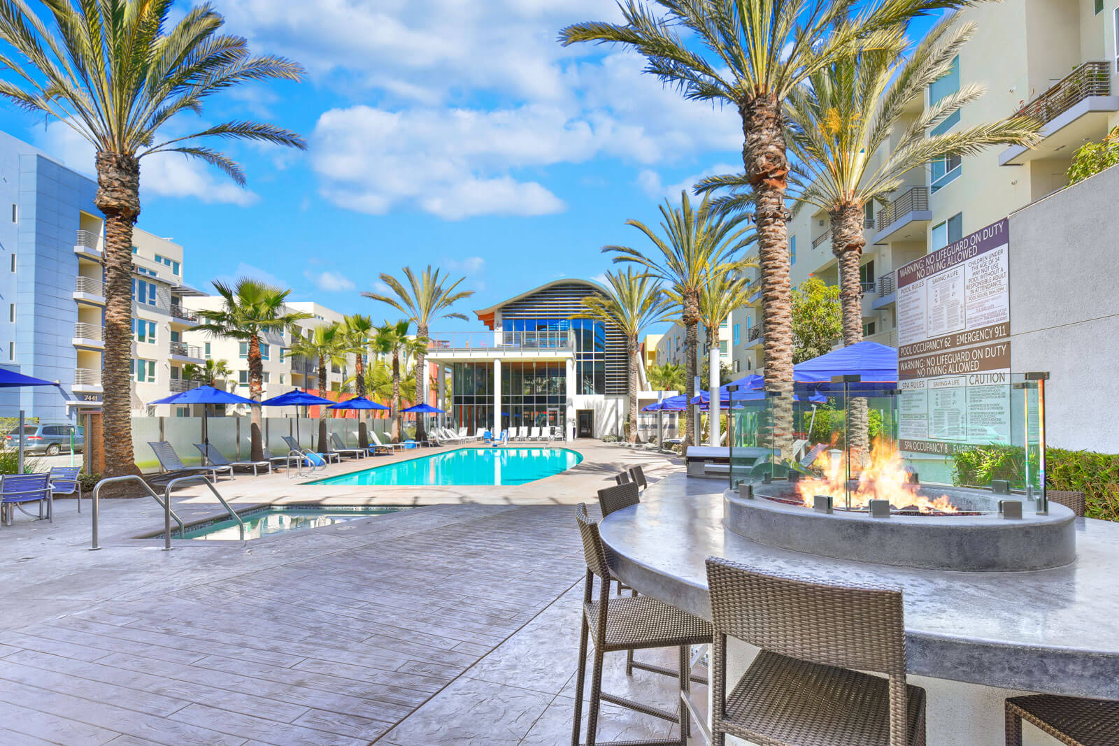 Poolside Grilling Stations and Fire Pits at Boardwalk by Windsor, 92647, CA