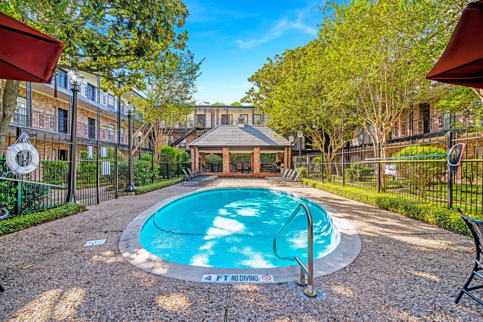 Resort-Style Pools at Allen House Apartments, 3433 West Dallas Street, Houston