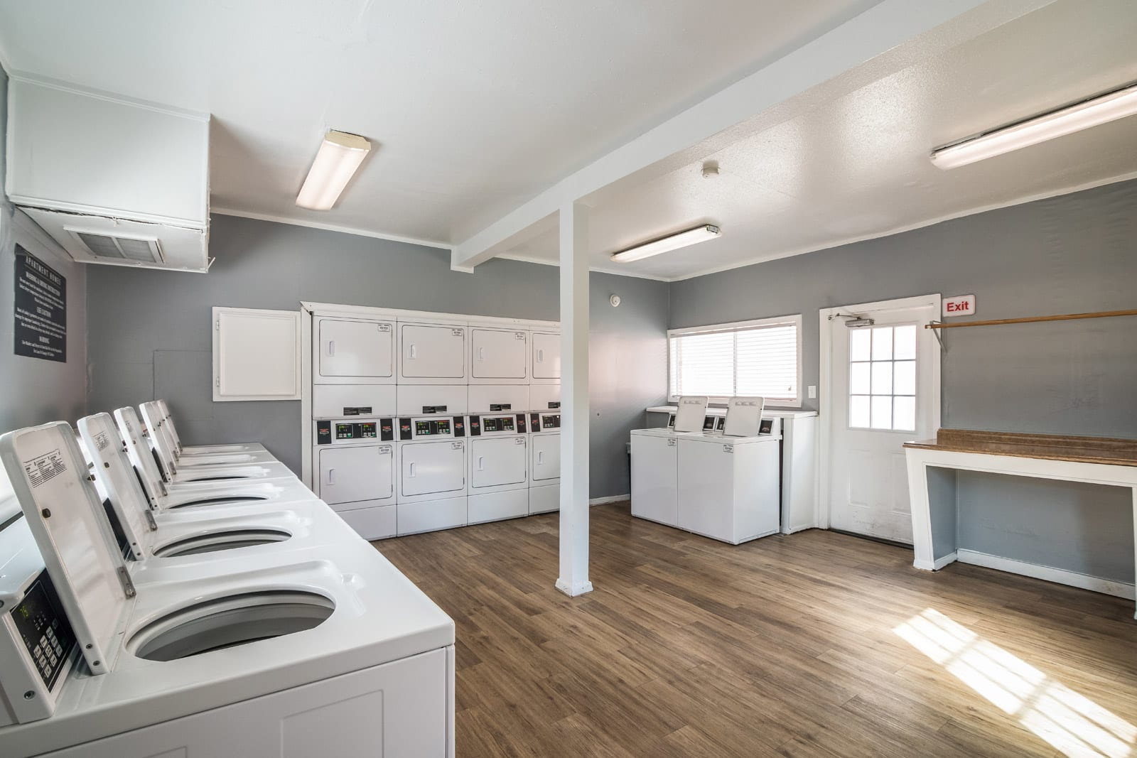 On-Site Laundry Room at Allen House Apartments, Houston, Texas