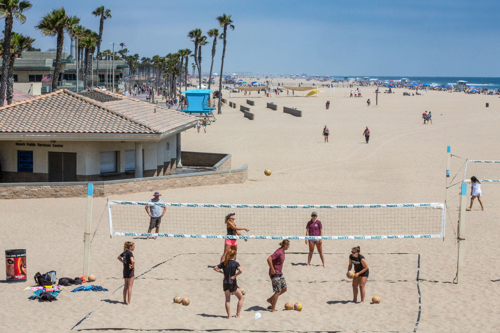 Beach Volleyball Courts near Boardwalk by Windsor, California, 92647
