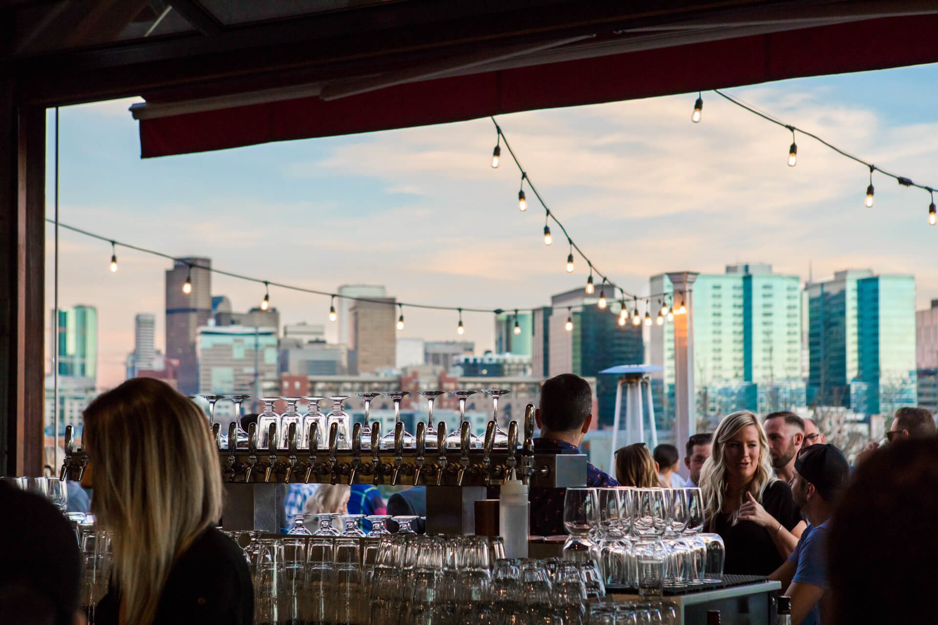 Stunning views at happy hours near Centric LoHi by Windsor, Denver, 80211