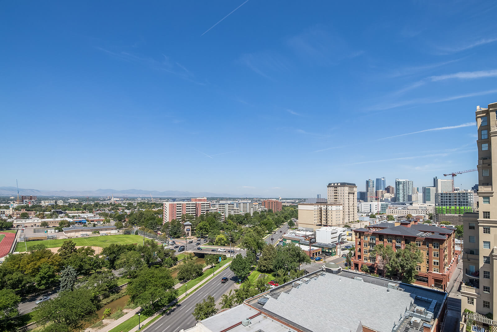Panoramic View of City from Rooftop or Balcony at 1000 Speer by Windsor, Denver, Colorado