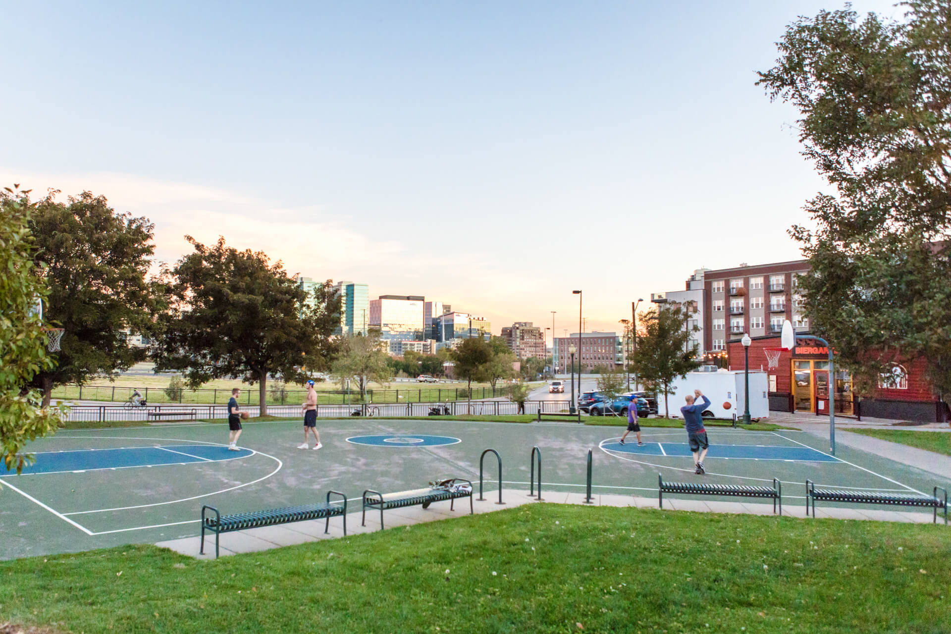 Full Outdoor Basketball Court near Centric LoHi by Windsor, Denver, CO, 80211