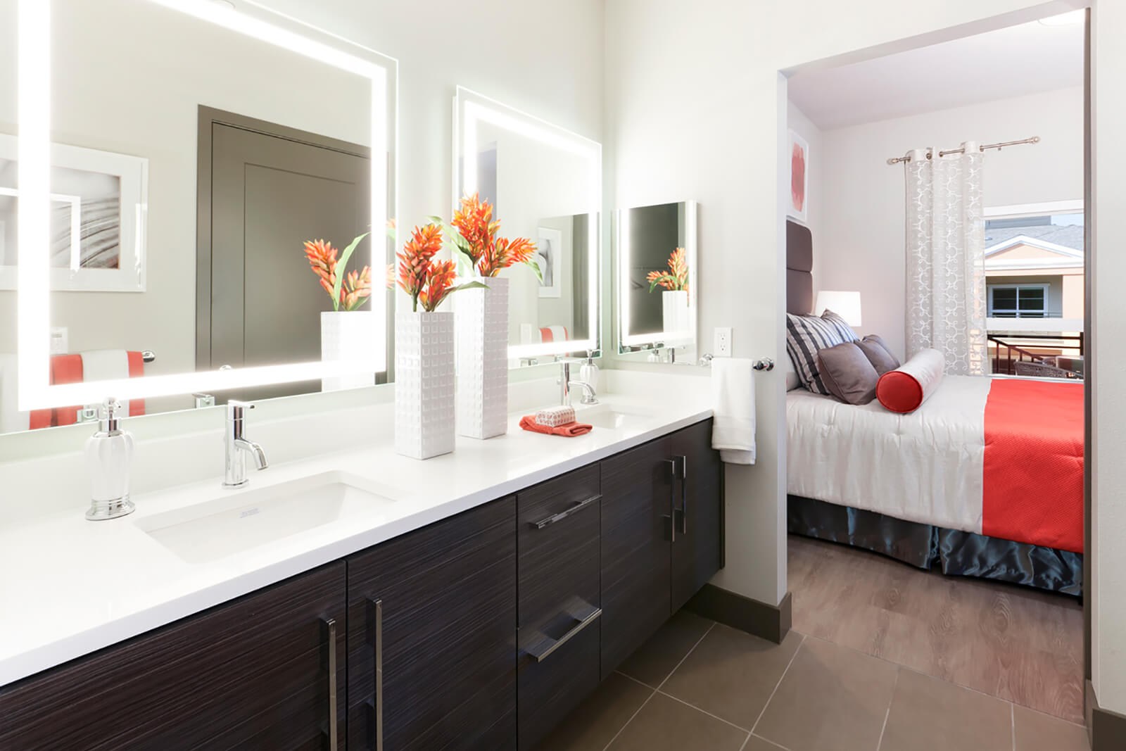 Master Bedrooms with En-suite Bathrooms at Blu Harbor by Windsor, CA, 94063
