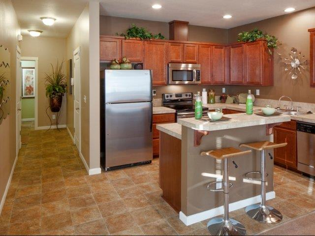 The Landing Apartments Model Townhome Stainless Steel Appliances Kitchen