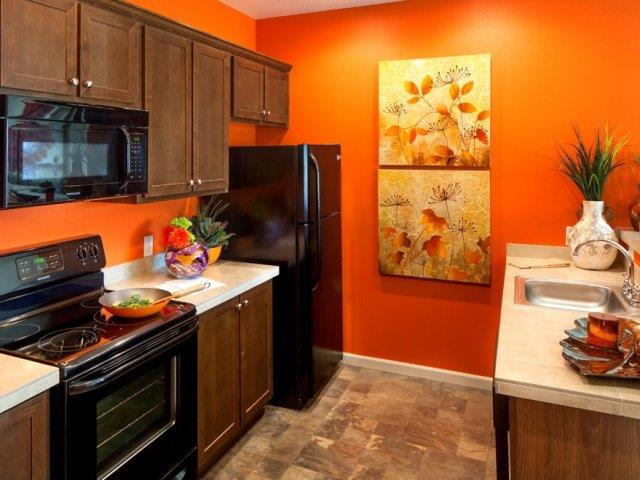 The Landing Apartments Model Townhome Kitchen