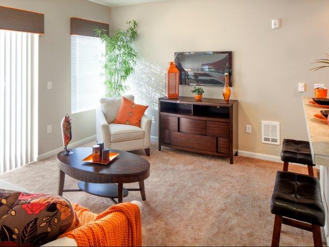The Landing Apartments Model Townhome Living Room
