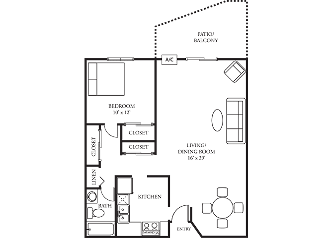 The Woods of Burnsville Apartment Homes - 1 Bedroom 1 Bath Apartment