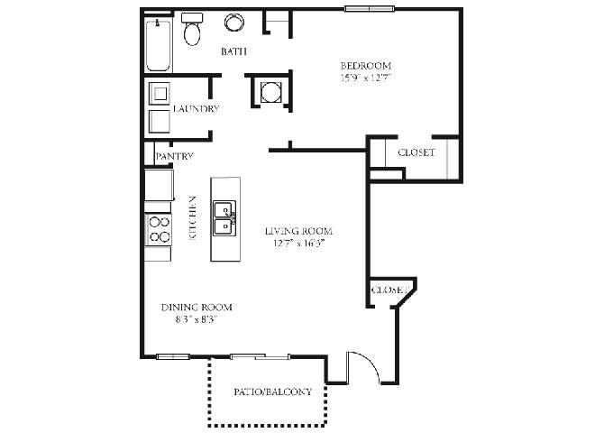 fairmont 1 bedroom 1 bath floorplan tramore village austell ga