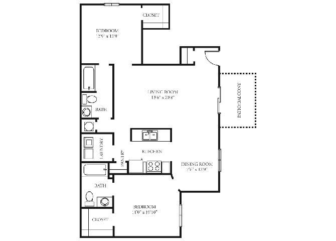 biltmore 2 bedroom 2 bath floorplan tramore village austell ga