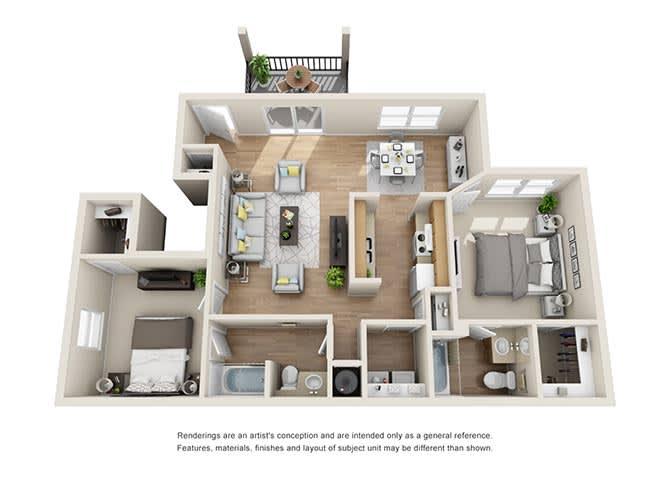 Biltmore | 2 Bedroom | 2 Bath | 1285 sq. ft.