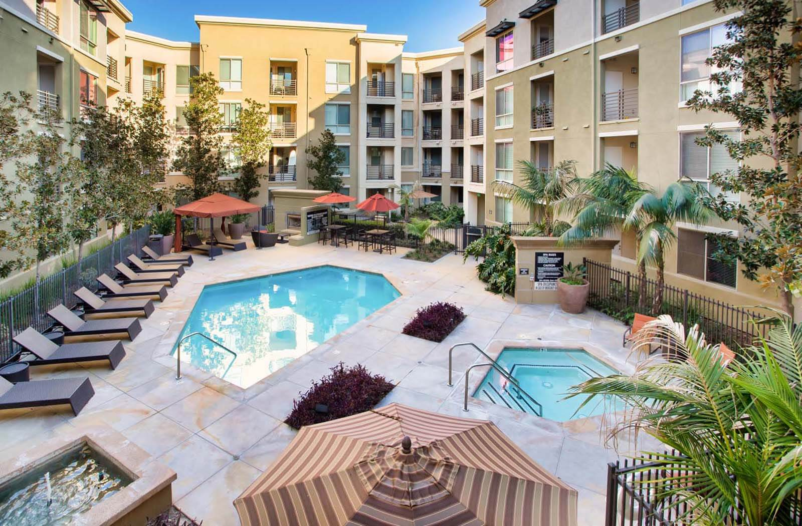 Resort-Style Swimming Pool  at The Enclave at Warner Center, 6710 Variel Ave