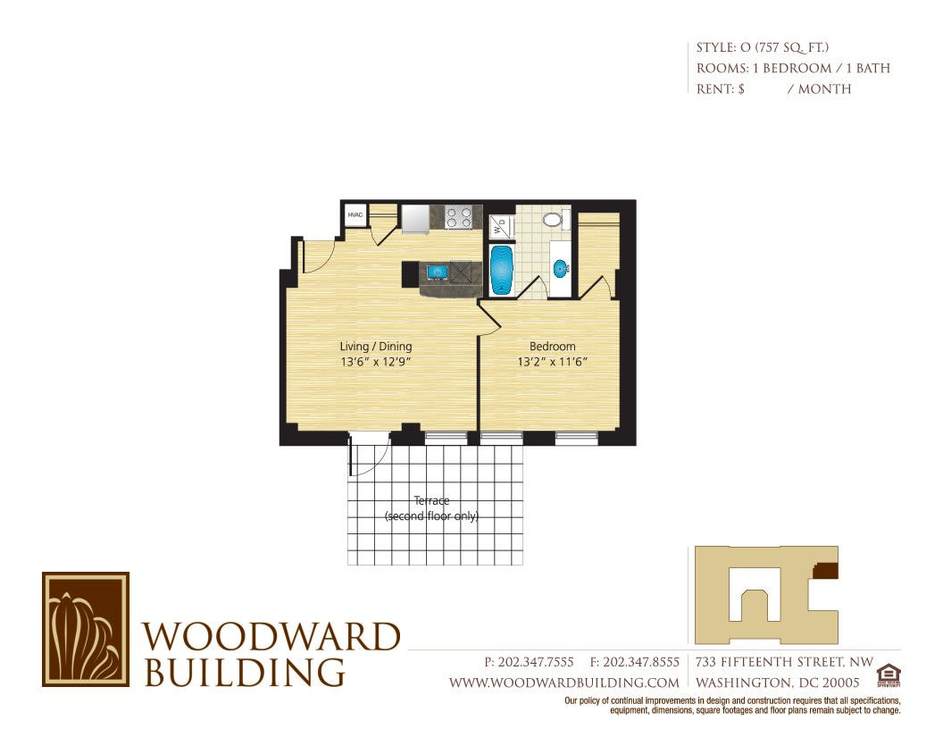 Floor Plan O Woodward at The Woodward Building Apartments, DC