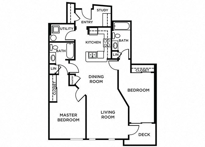 Bainbridge Floor Plan at The Pacifica, Washington, 98409