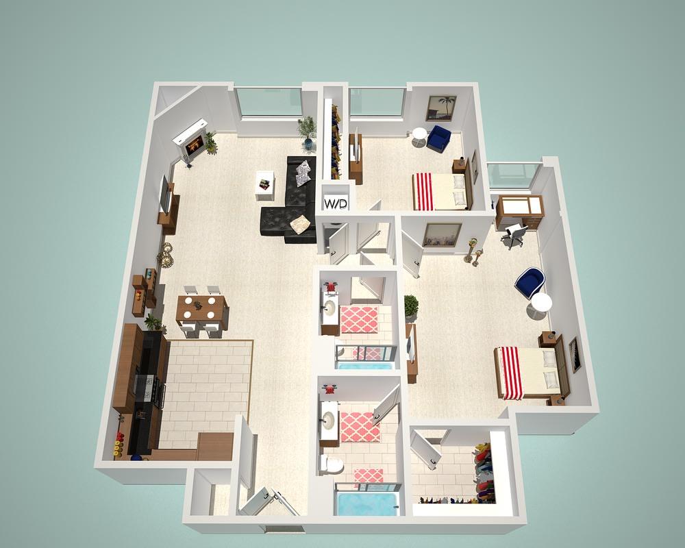 1 2 Bedroom Apartments The Social Apartments