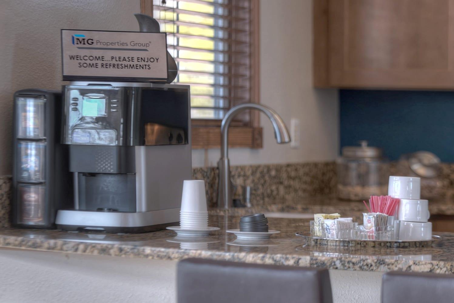 Coffee Bar and Hospitality Station at Manzanita Gate Apartment Homes, Reno, 89523