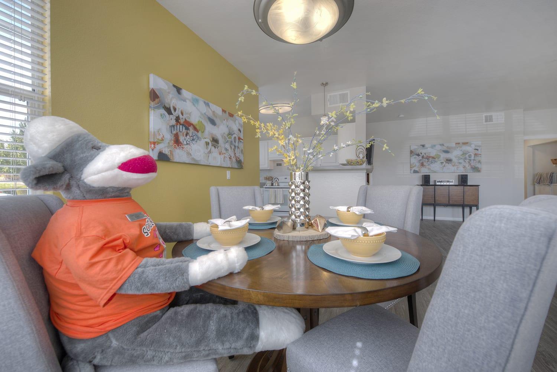 Monkey Doll at Kitchen at Manzanita Gate Apartment Homes, Reno, NV