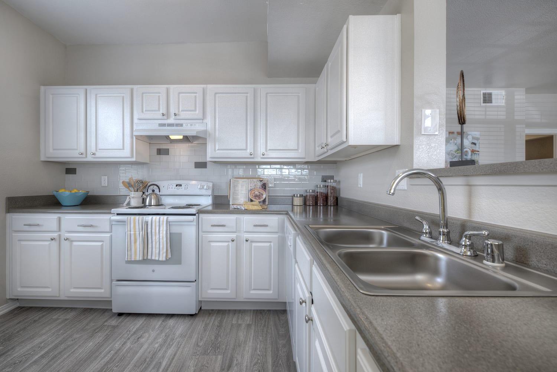 Kitchen and Cabinetry at Manzanita Gate Apartment Homes, Reno, NV