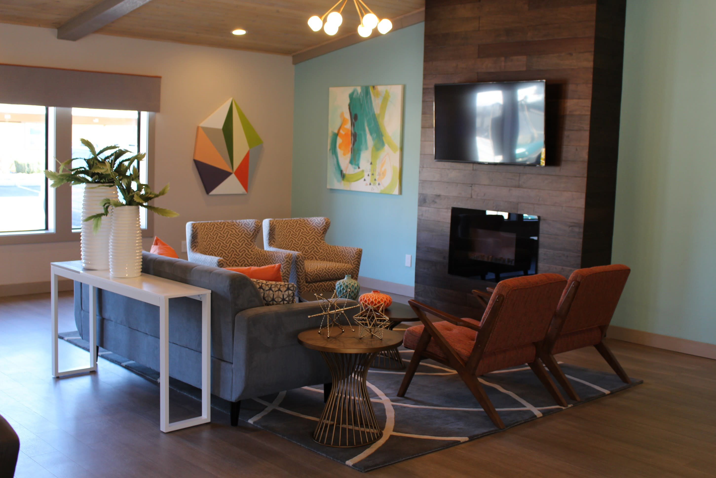 Entertainment Area at Village at Iron Blossom Apartment Homes, NV, 89511