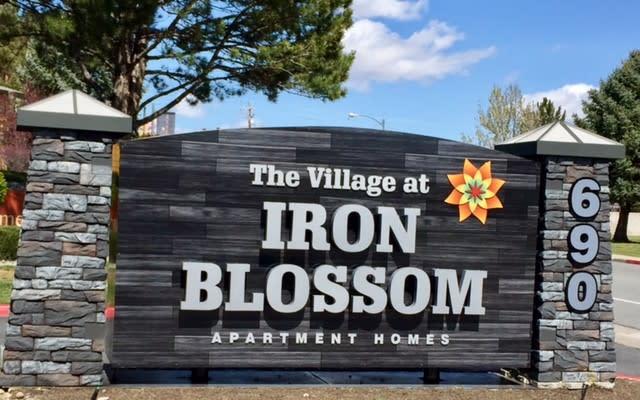 The Village at Iron Blossom Signage, at Village at Iron Blossom Apartment Homes, Reno, 89511
