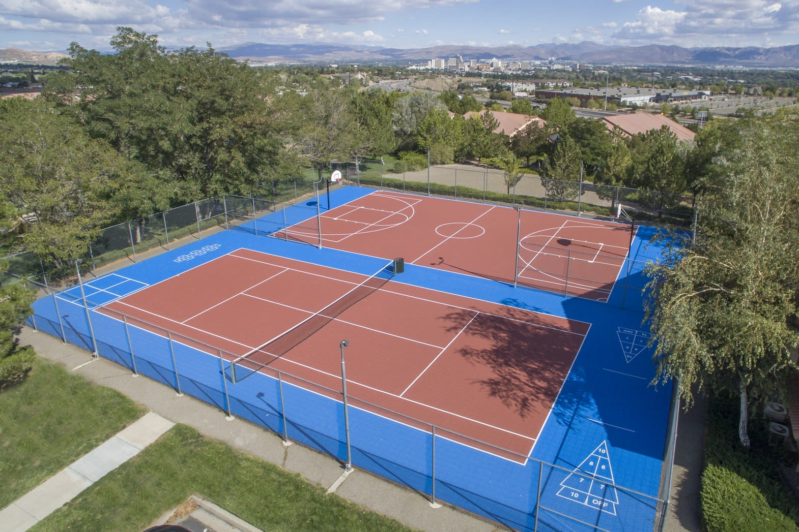 Two Sports Court, at Vizcaya Hilltop Apartment Homes, 1350 Grand Summit Drive