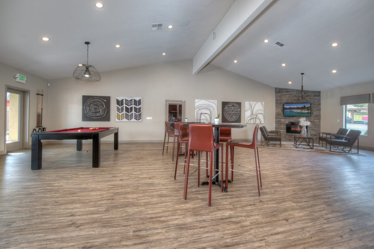 Resident Clubhouse at Vizcaya Hilltop Apartment Homes, Reno, NV