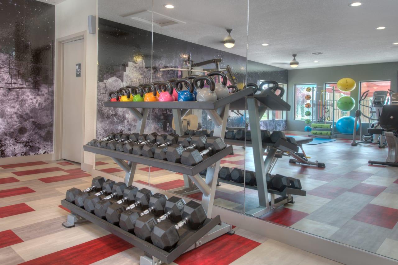 Weight Equipment at Vizcaya Hilltop Apartment Homes, Reno, 89523