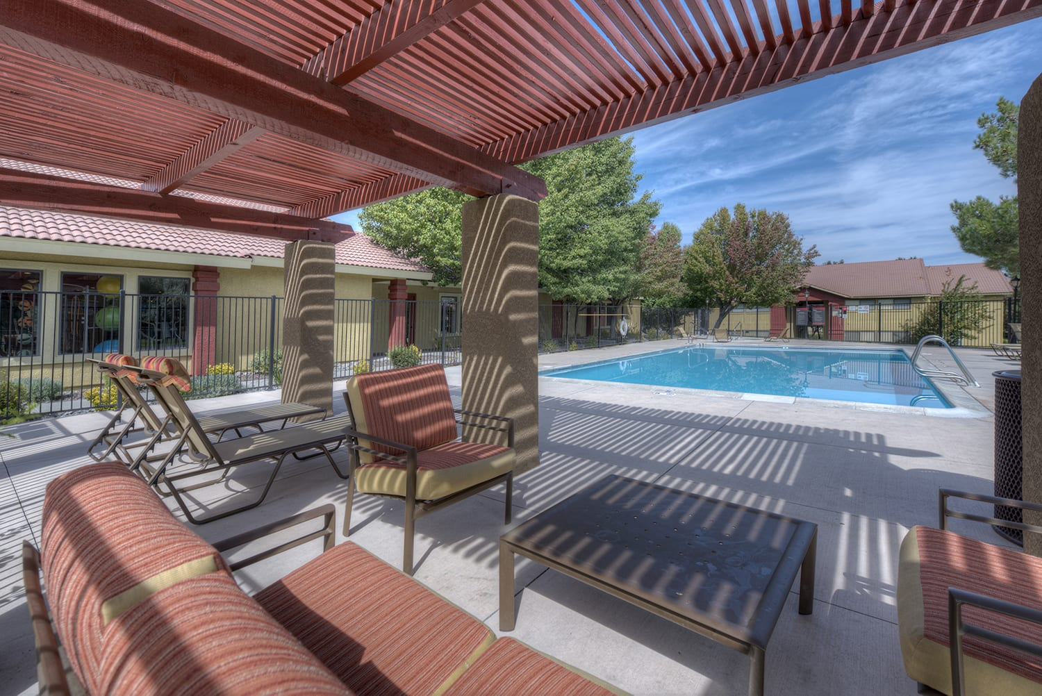 Courtyard Patio With Ample Sitting at Vizcaya Hilltop, Nevada