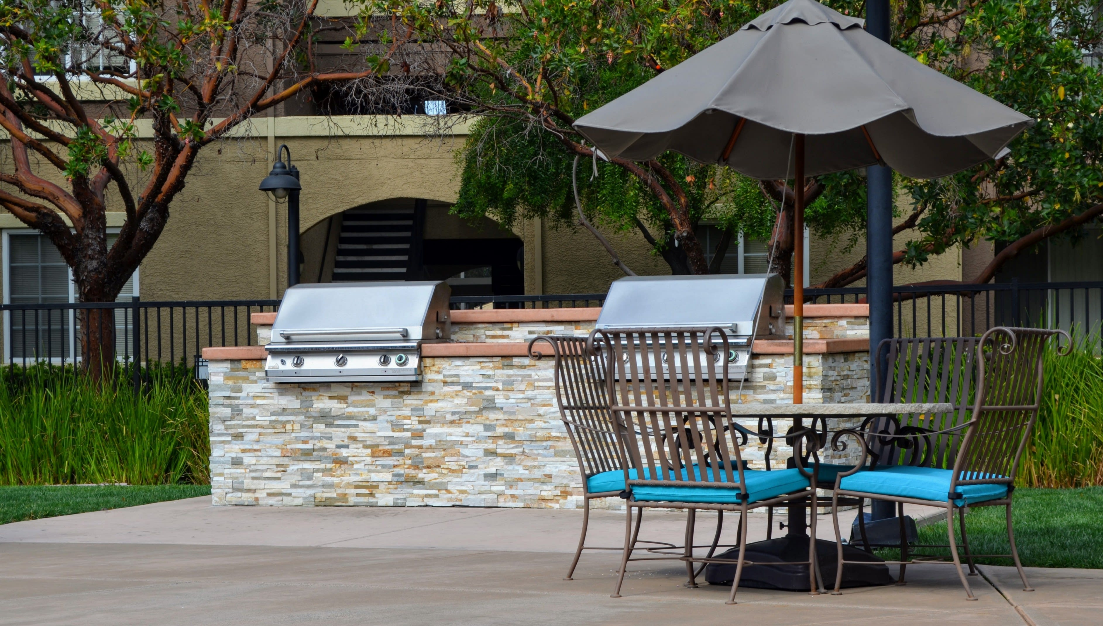 BBQ and Picnic Area at Sterling Village Apartment Homes, CA, 94590