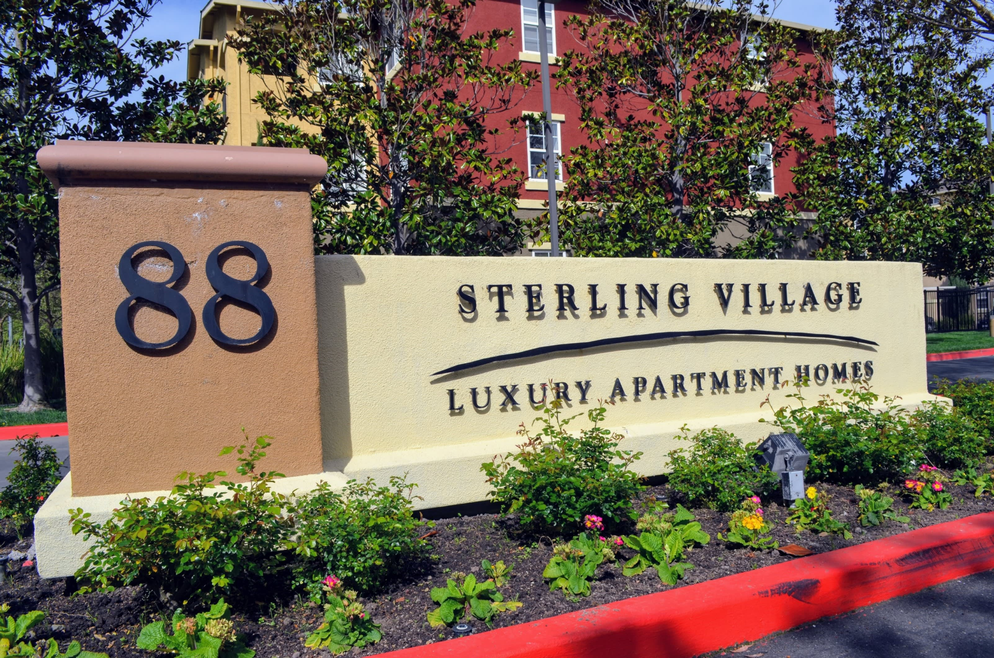 Signage at Sterling Village Apartment Homes, Vallejo, CA