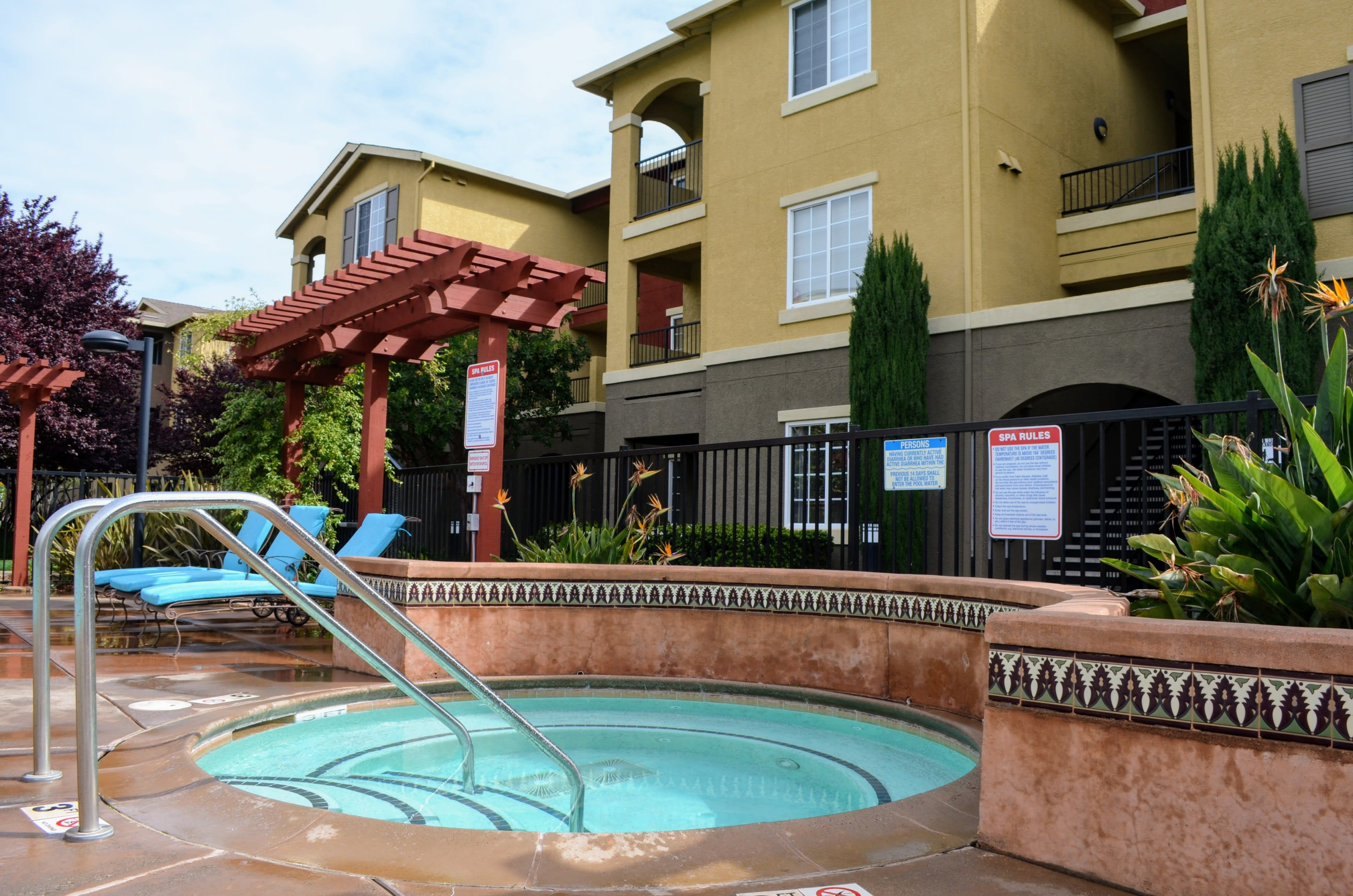 Year-Round Hot Tub at Sterling Village Apartment Homes, CA, 94590