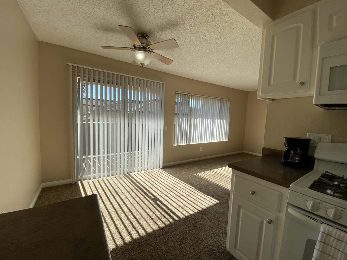 Fan In Living Room at Stoneridge Apartment, Upland, 91786