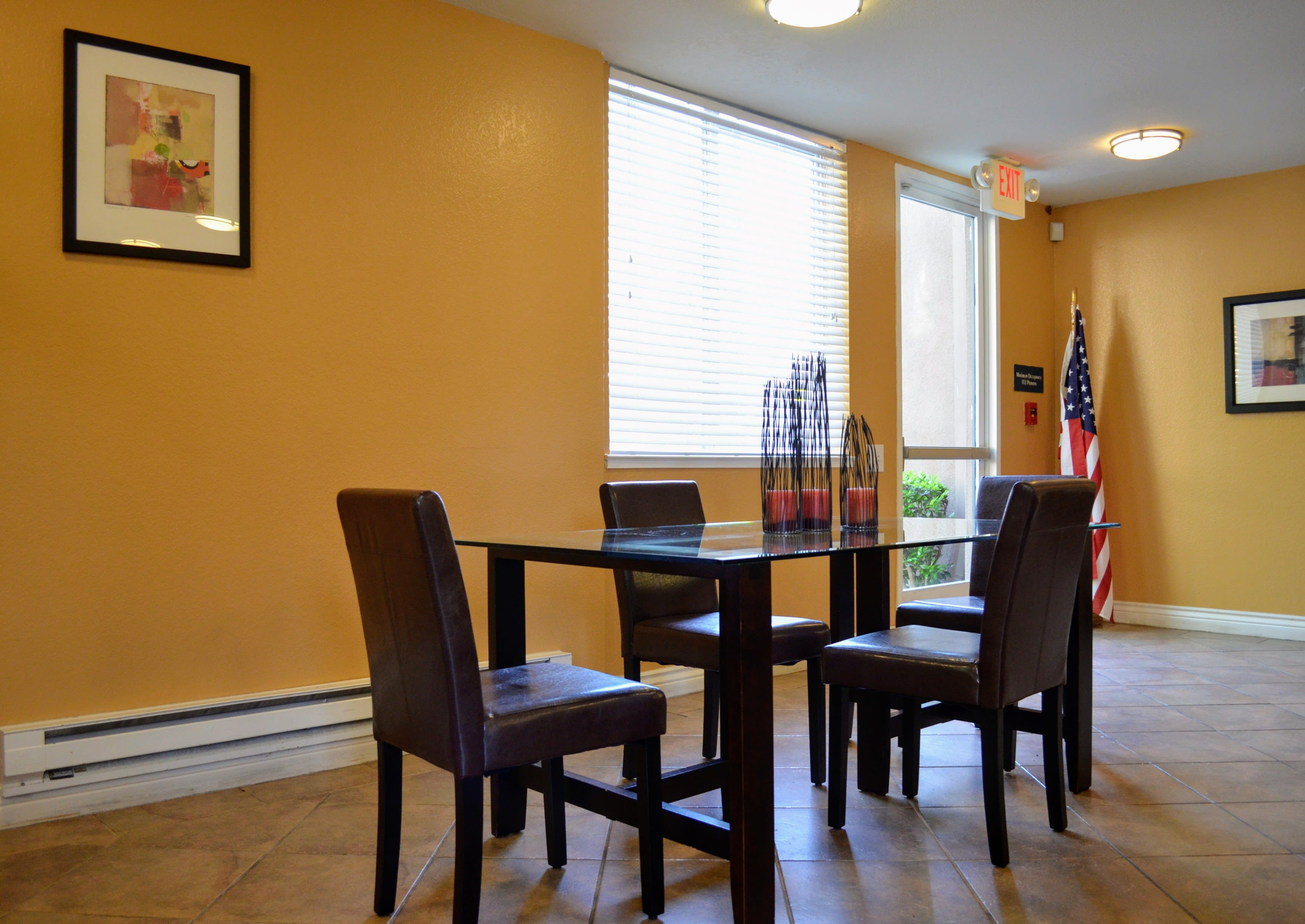 Separate Spaces for Dining at Del Norte Place Apartments, 11720 San Pablo Avenue, El Cerrito