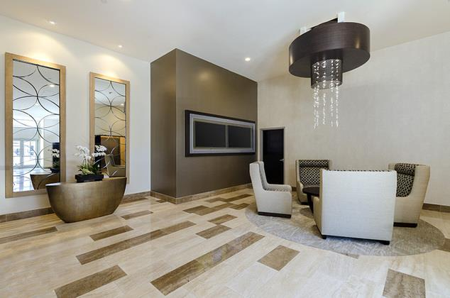 Home Community-Lobby at 1600 Vine Apartment Homes, CA, 90028