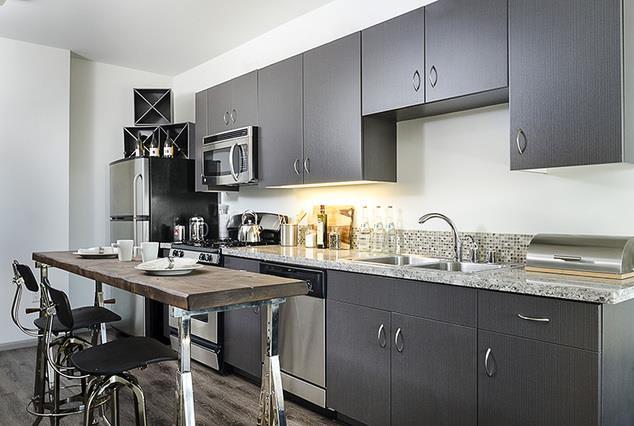 Home Community- Kitchen at 1600 Vine Apartment Homes, California, 90028