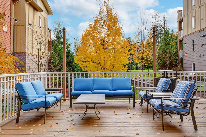 Lounge Seating Area at Reunion at Redmond Ridge, Redmond, WA