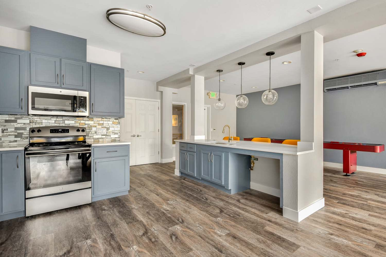 Fully Furnished Kitchen at Reunion at Redmond Ridge, Redmond, WA
