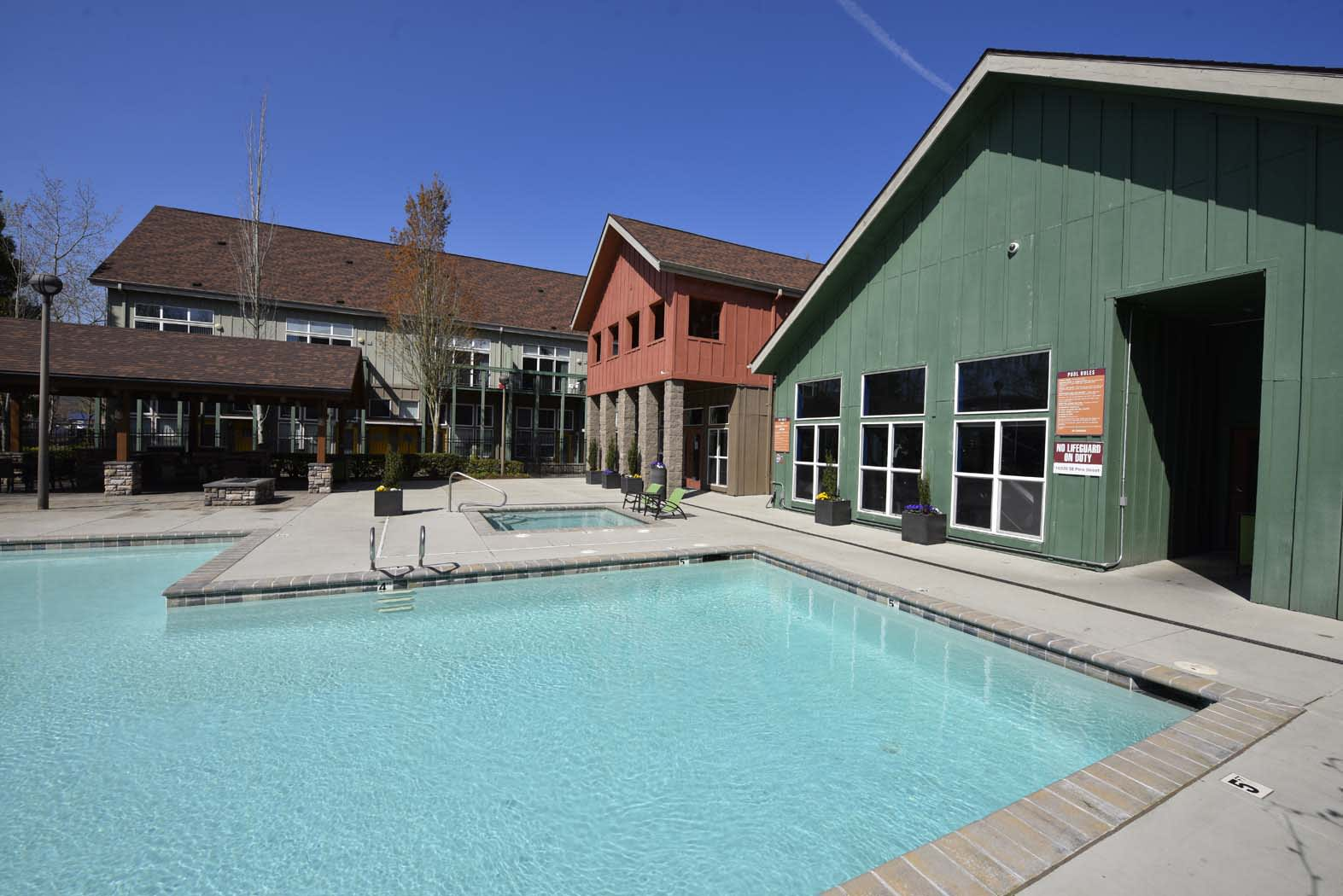 Cool Swimming Pool at Russellville Commons, Oregon