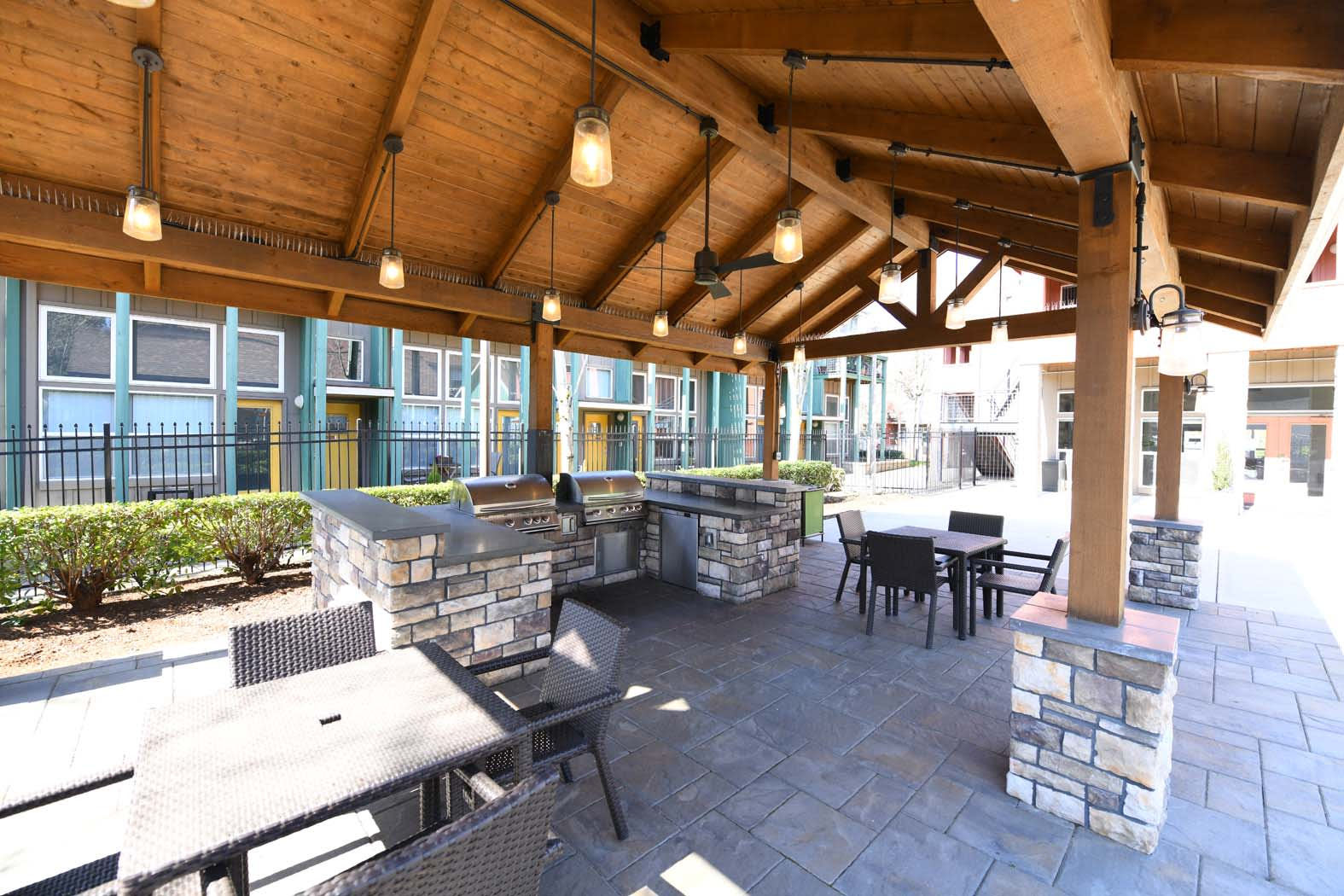 Courtyard Shed With Bbq at Russellville Commons, Portland, Oregon