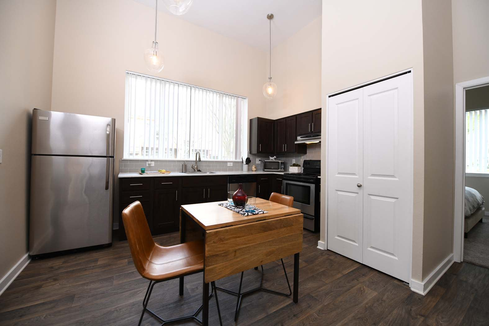 Dinning Table in Kitchen at Russellville Commons, Portland, OR, 97216
