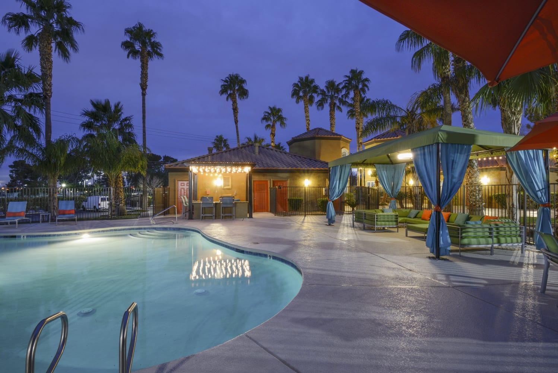 Lounge Swimming Pool With Cabana at Sedona at Lone Mountain, North Las Vegas