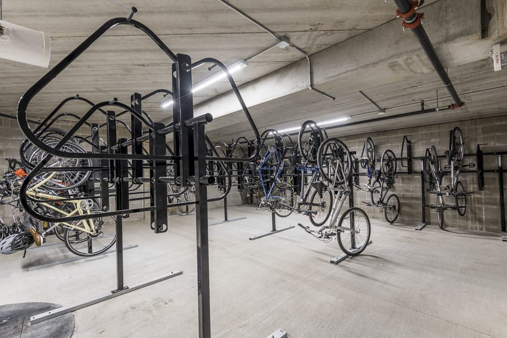 Bicycle storage racks at The Preserve at Normandale Lake