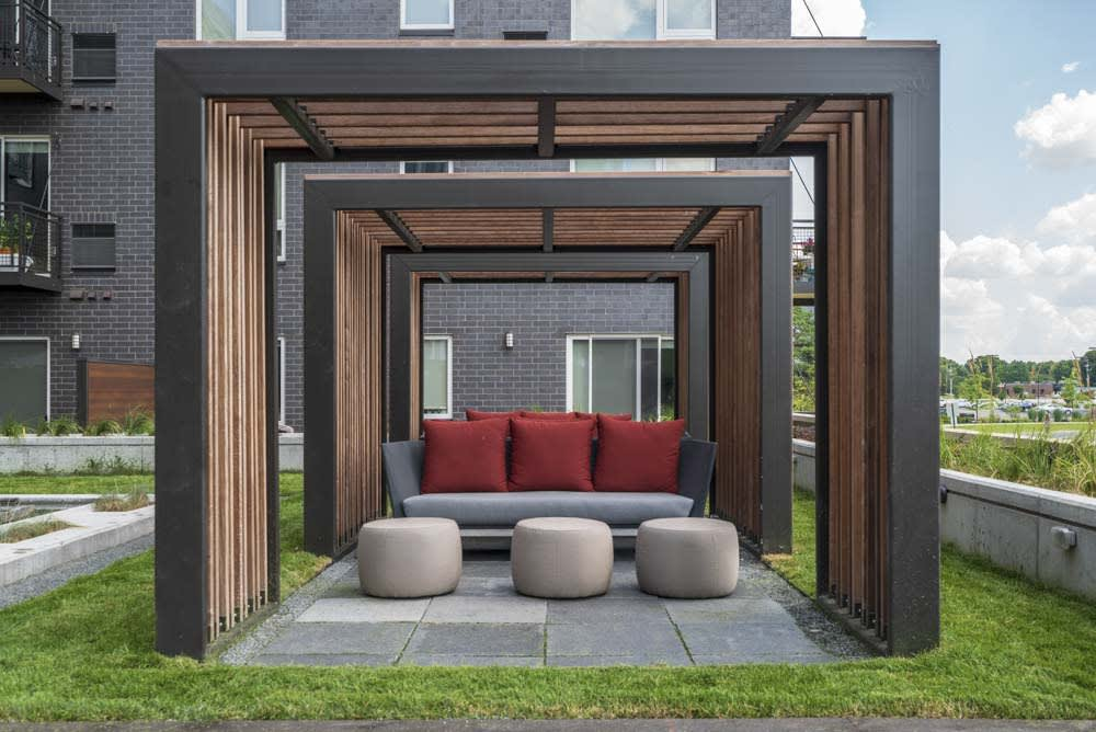 Outdoor entertainment space.