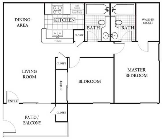 Floor Plans Of Americana Simi Valley In Simi Valley, CA