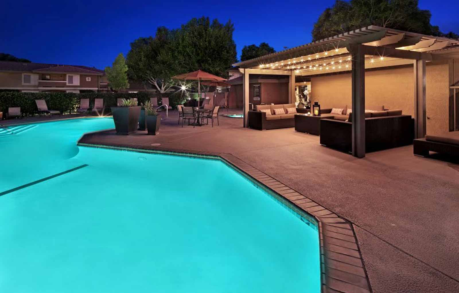 Swimming Pools with Cabana at Mirabella Apartments, California, 92203