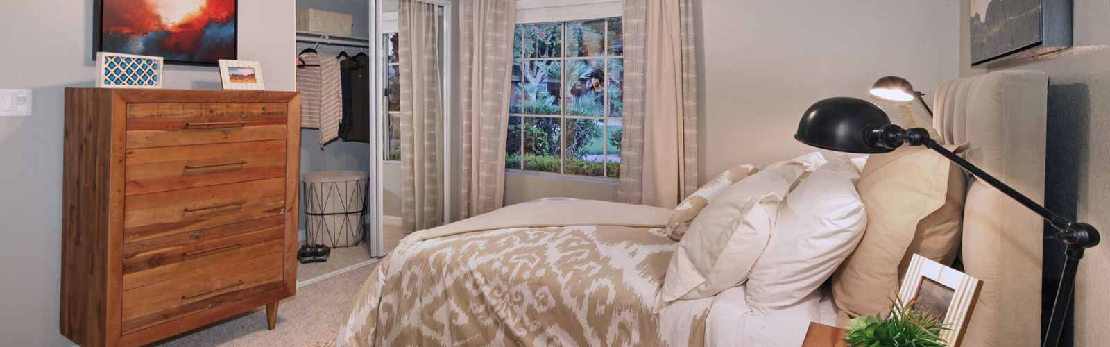 Comfortable Bedroom at Mirabella Apartments, Bermuda Dunes, CA