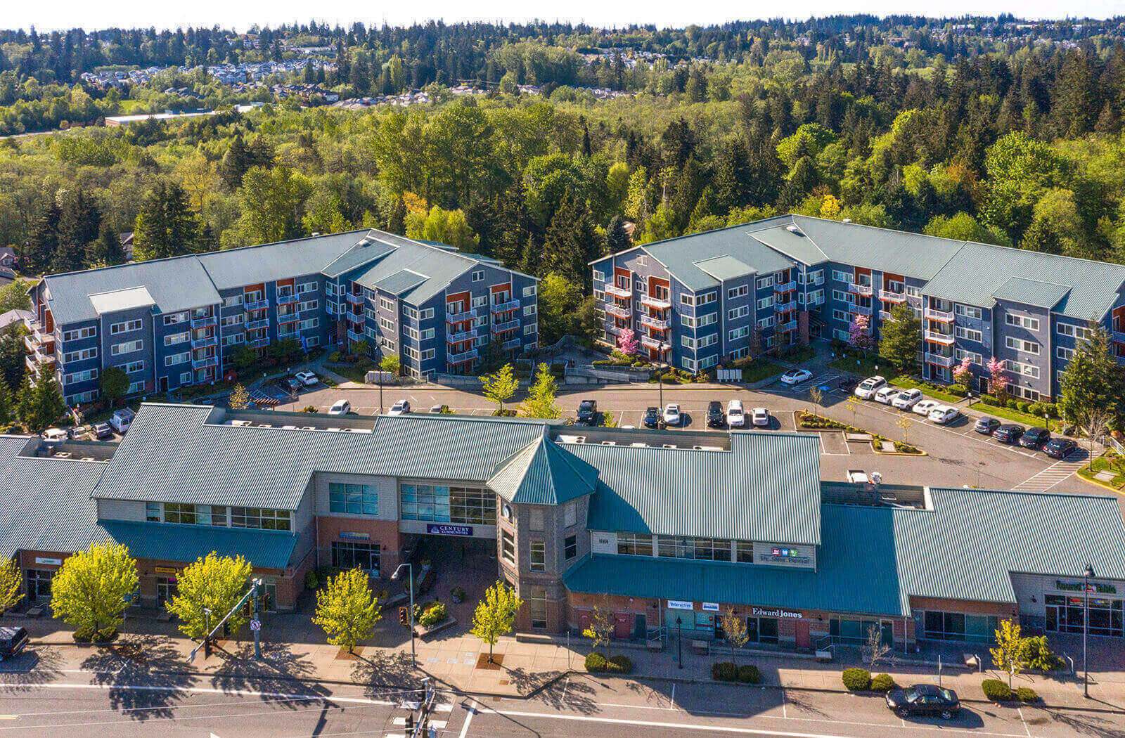 Aerial View at Newberry Square, Lynnwood, WA