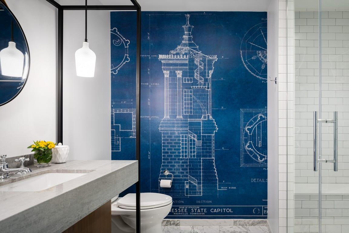 Designer Hotel Bathroom at Aertson Midtown, Tennessee