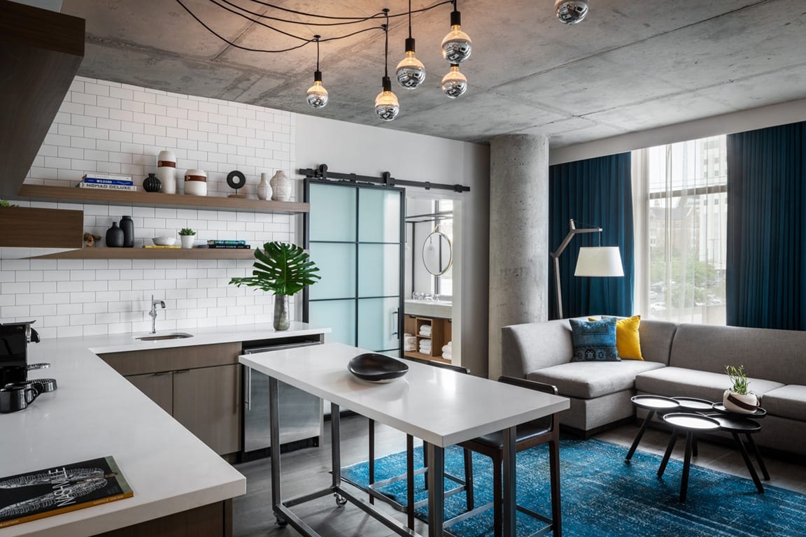 Modern Hotel Room at Aertson Midtown, Nashville, TN, 37203