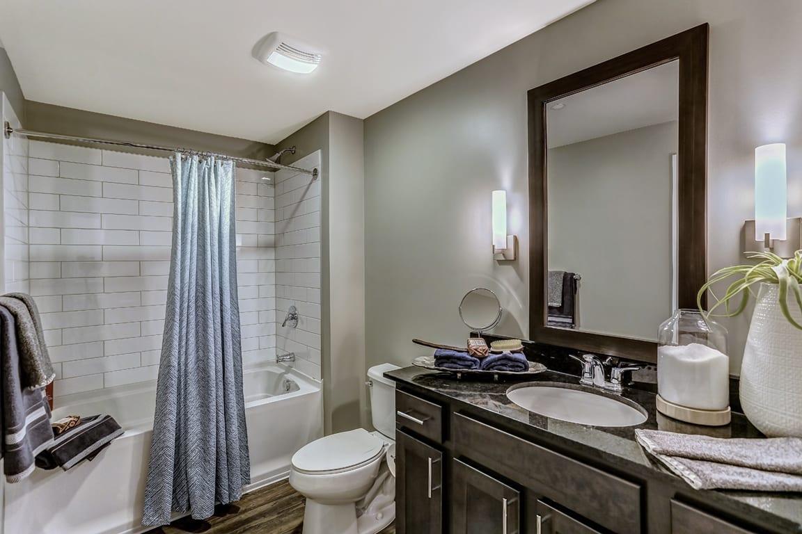 Upgraded Bathroom Fixtures at Aertson Midtown, Nashville, TN